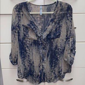 3/4 length blouse